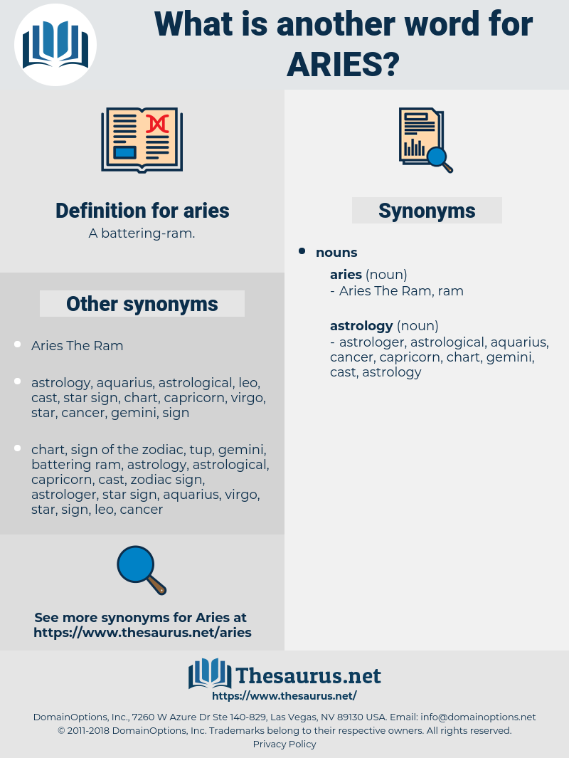 aries, synonym aries, another word for aries, words like aries, thesaurus aries