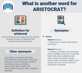 aristocrat, synonym aristocrat, another word for aristocrat, words like aristocrat, thesaurus aristocrat