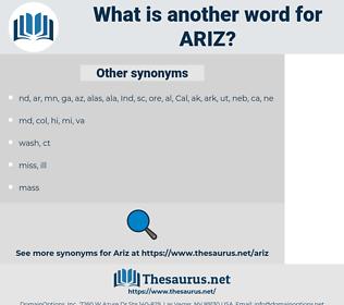 ARIZ, synonym ARIZ, another word for ARIZ, words like ARIZ, thesaurus ARIZ