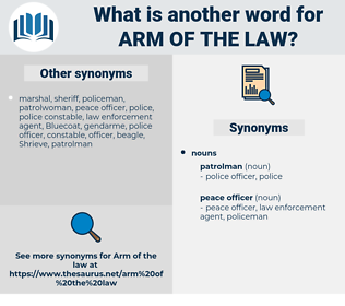 arm of the law, synonym arm of the law, another word for arm of the law, words like arm of the law, thesaurus arm of the law