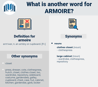 armoire, synonym armoire, another word for armoire, words like armoire, thesaurus armoire