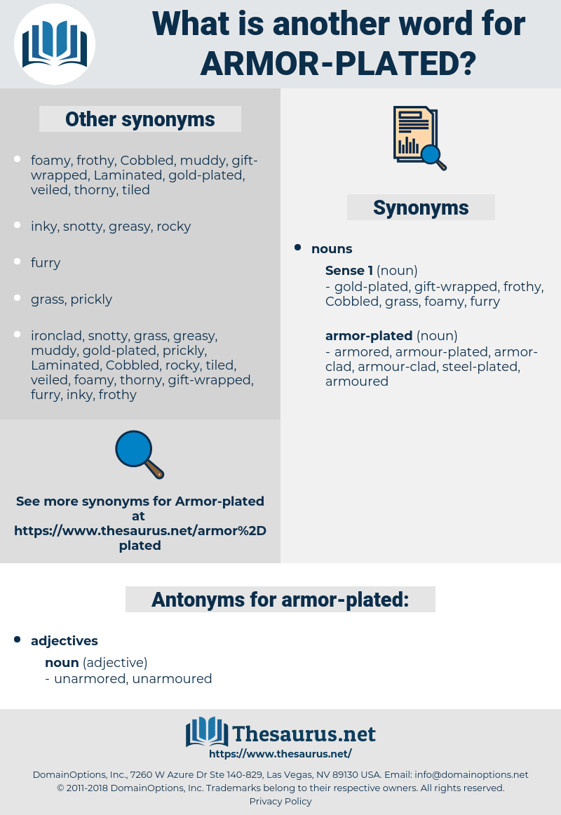 armor-plated, synonym armor-plated, another word for armor-plated, words like armor-plated, thesaurus armor-plated