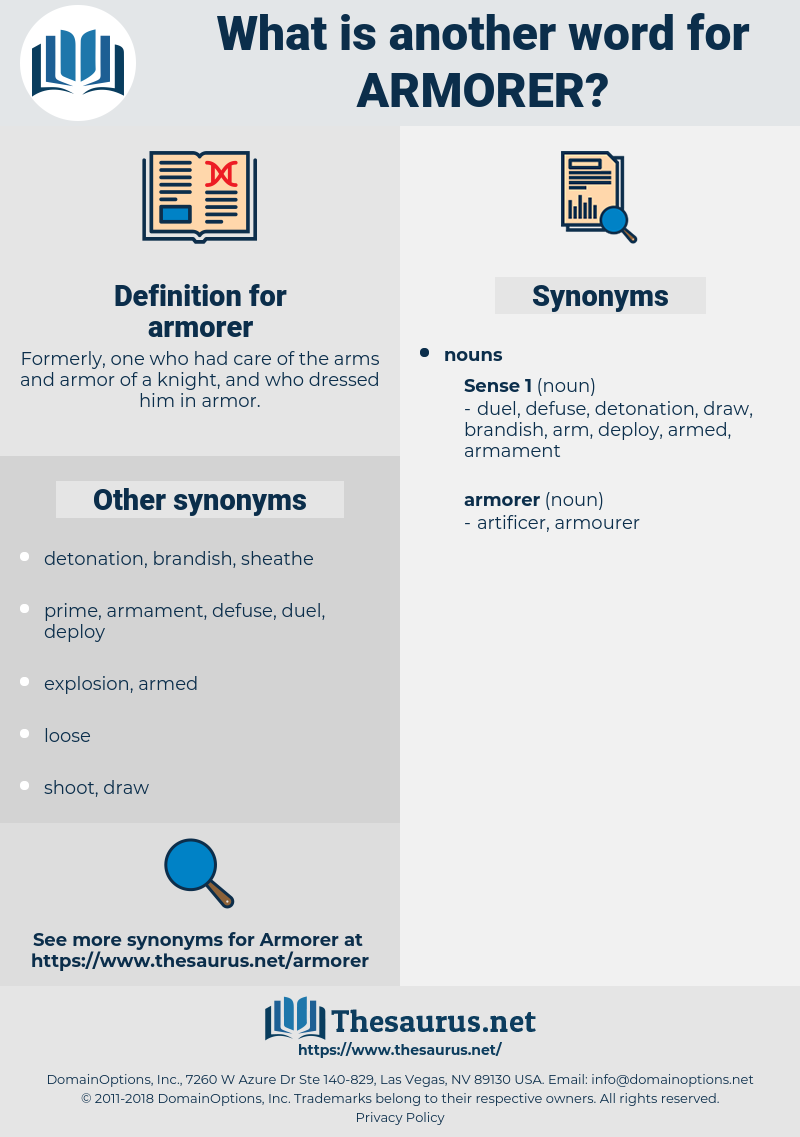armorer, synonym armorer, another word for armorer, words like armorer, thesaurus armorer