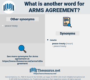 arms agreement, synonym arms agreement, another word for arms agreement, words like arms agreement, thesaurus arms agreement