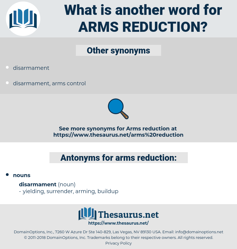 arms reduction, synonym arms reduction, another word for arms reduction, words like arms reduction, thesaurus arms reduction