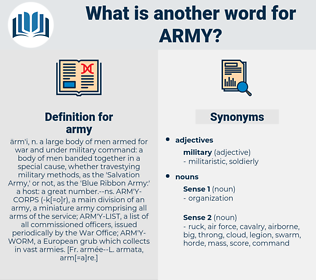 army, synonym army, another word for army, words like army, thesaurus army