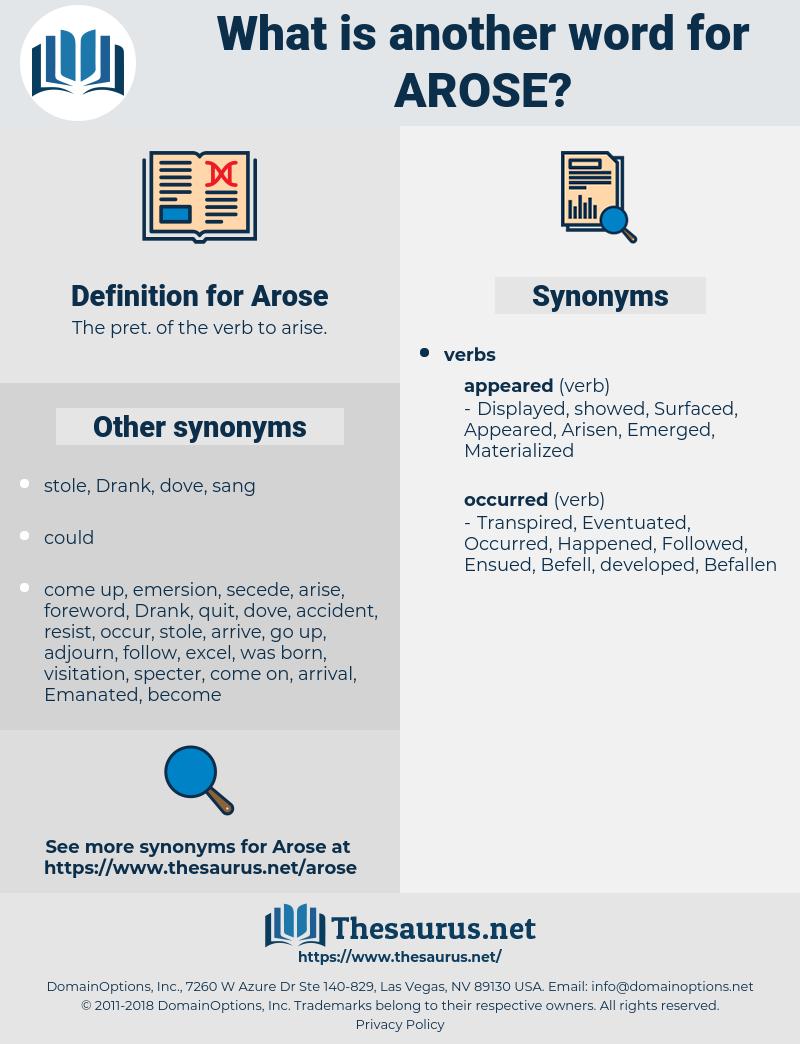 Arose, synonym Arose, another word for Arose, words like Arose, thesaurus Arose