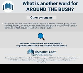 around the bush, synonym around the bush, another word for around the bush, words like around the bush, thesaurus around the bush