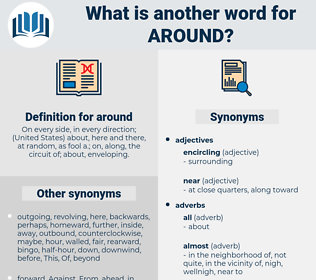 around, synonym around, another word for around, words like around, thesaurus around