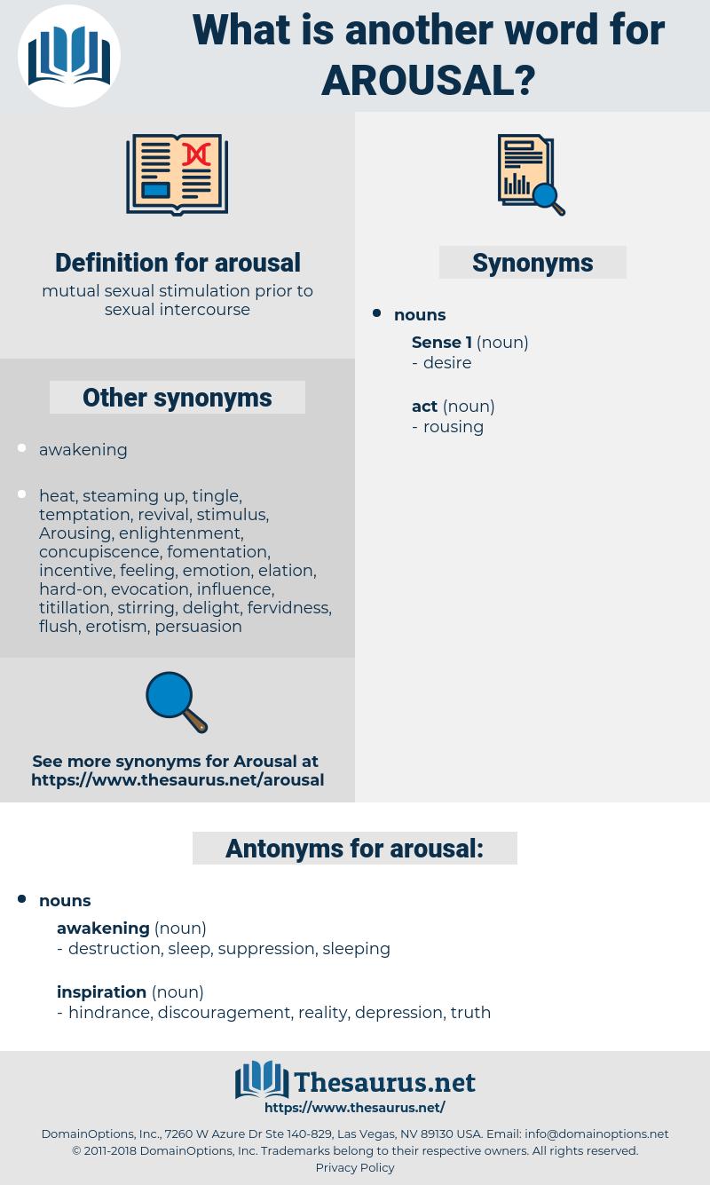 arousal, synonym arousal, another word for arousal, words like arousal, thesaurus arousal