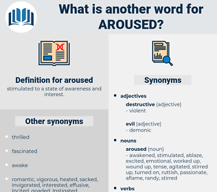 aroused, synonym aroused, another word for aroused, words like aroused, thesaurus aroused
