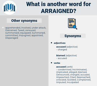 Arraigned, synonym Arraigned, another word for Arraigned, words like Arraigned, thesaurus Arraigned