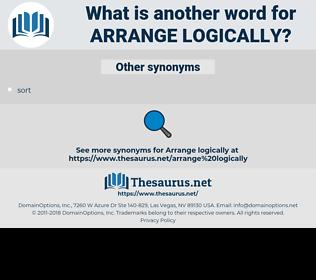 arrange logically, synonym arrange logically, another word for arrange logically, words like arrange logically, thesaurus arrange logically