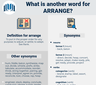 arrange, synonym arrange, another word for arrange, words like arrange, thesaurus arrange