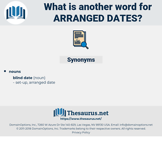 arranged dates, synonym arranged dates, another word for arranged dates, words like arranged dates, thesaurus arranged dates