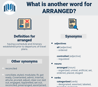 arranged, synonym arranged, another word for arranged, words like arranged, thesaurus arranged