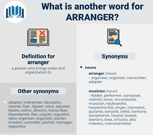 arranger, synonym arranger, another word for arranger, words like arranger, thesaurus arranger