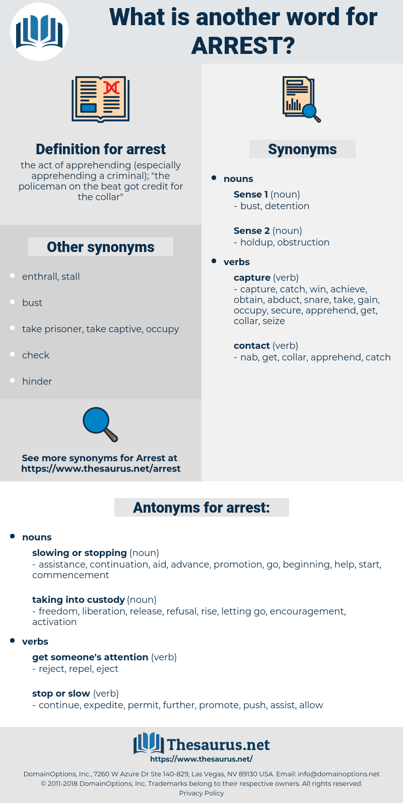 arrest, synonym arrest, another word for arrest, words like arrest, thesaurus arrest
