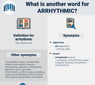 arrhythmic, synonym arrhythmic, another word for arrhythmic, words like arrhythmic, thesaurus arrhythmic