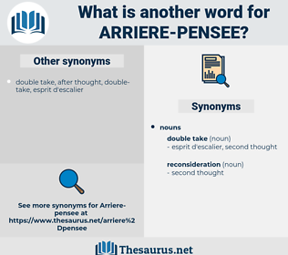 Arriere Pensee, synonym Arriere Pensee, another word for Arriere Pensee, words like Arriere Pensee, thesaurus Arriere Pensee