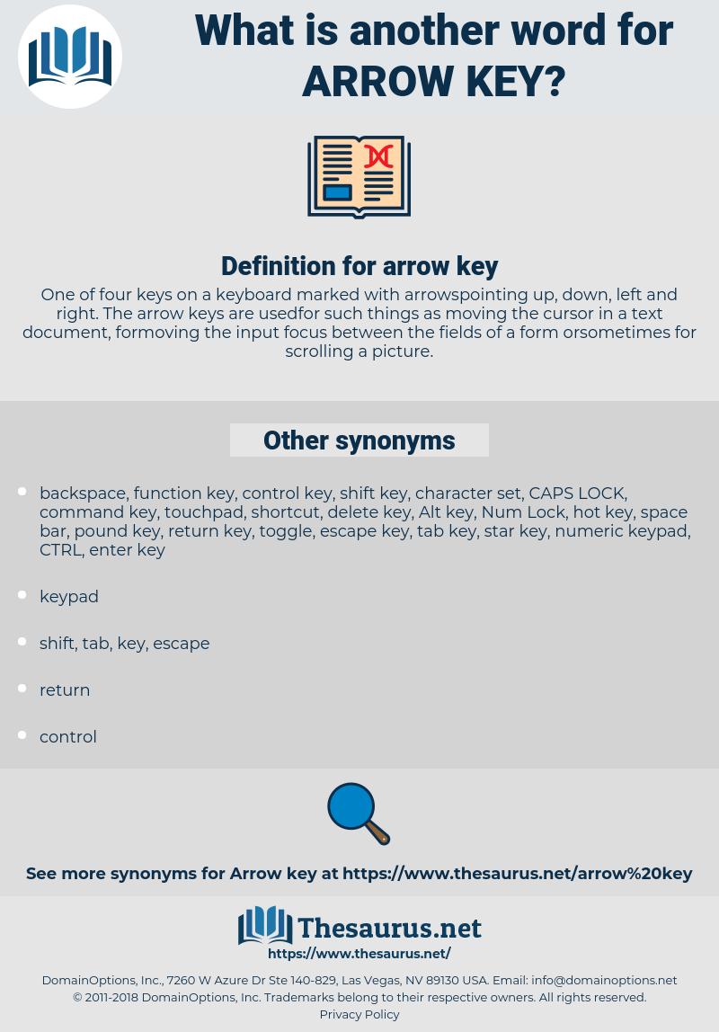 arrow key, synonym arrow key, another word for arrow key, words like arrow key, thesaurus arrow key