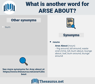 Arse About, synonym Arse About, another word for Arse About, words like Arse About, thesaurus Arse About