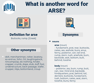 arse, synonym arse, another word for arse, words like arse, thesaurus arse