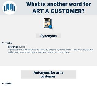 art a customer, synonym art a customer, another word for art a customer, words like art a customer, thesaurus art a customer