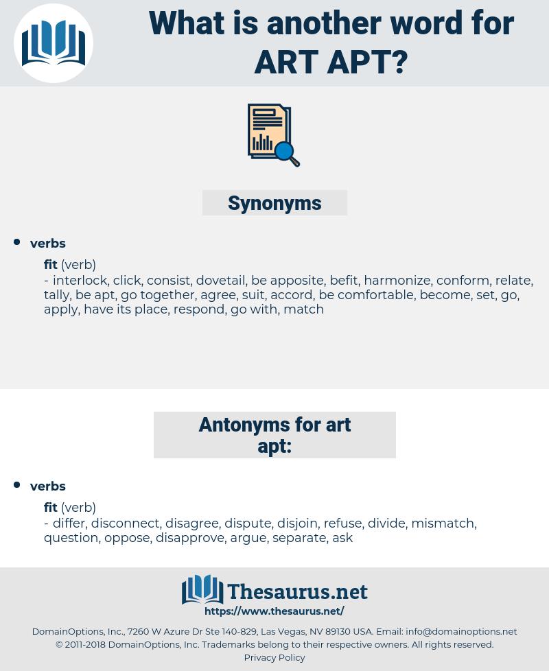 art apt, synonym art apt, another word for art apt, words like art apt, thesaurus art apt