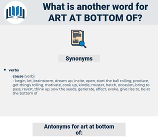 art at bottom of, synonym art at bottom of, another word for art at bottom of, words like art at bottom of, thesaurus art at bottom of