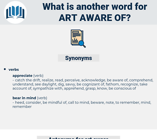 art aware of, synonym art aware of, another word for art aware of, words like art aware of, thesaurus art aware of