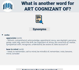 art cognizant of, synonym art cognizant of, another word for art cognizant of, words like art cognizant of, thesaurus art cognizant of