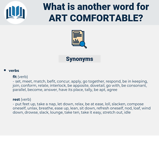 art comfortable, synonym art comfortable, another word for art comfortable, words like art comfortable, thesaurus art comfortable