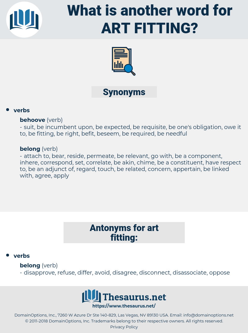 art fitting, synonym art fitting, another word for art fitting, words like art fitting, thesaurus art fitting