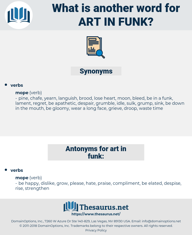 art in funk, synonym art in funk, another word for art in funk, words like art in funk, thesaurus art in funk