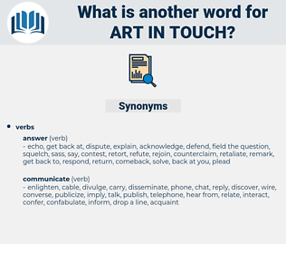 art in touch, synonym art in touch, another word for art in touch, words like art in touch, thesaurus art in touch