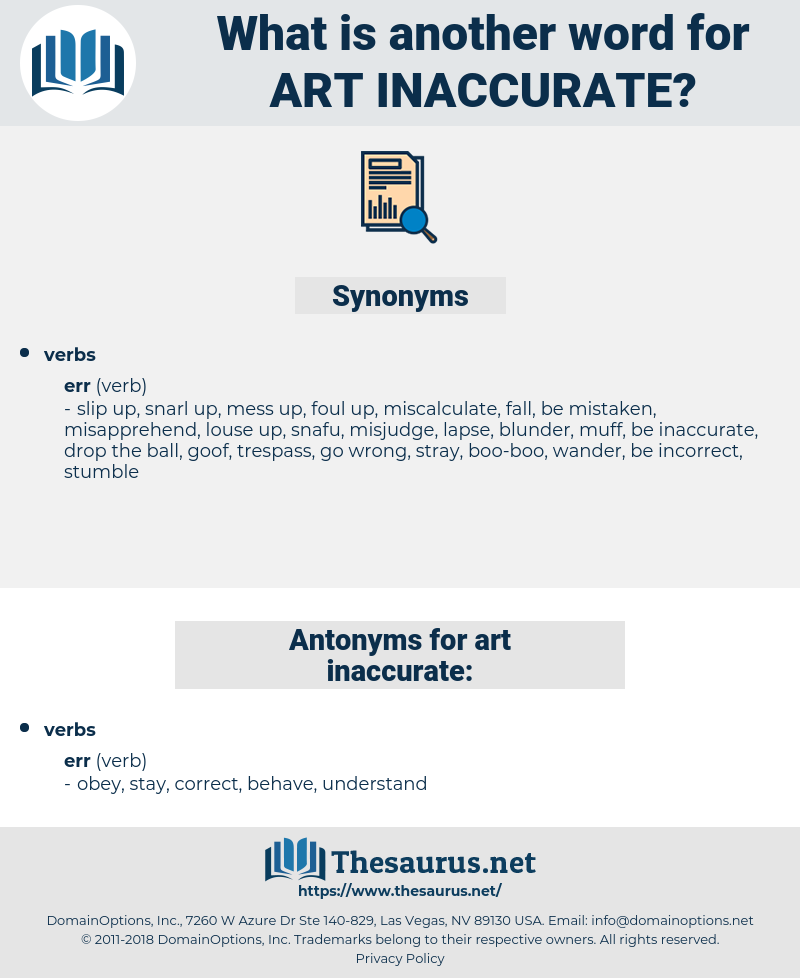 art inaccurate, synonym art inaccurate, another word for art inaccurate, words like art inaccurate, thesaurus art inaccurate