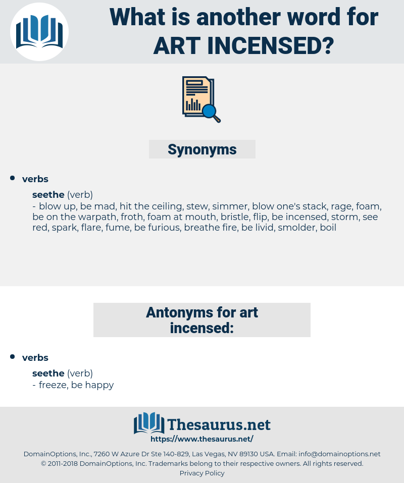 art incensed, synonym art incensed, another word for art incensed, words like art incensed, thesaurus art incensed