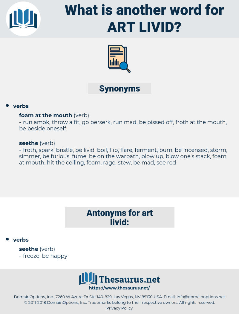 art livid, synonym art livid, another word for art livid, words like art livid, thesaurus art livid