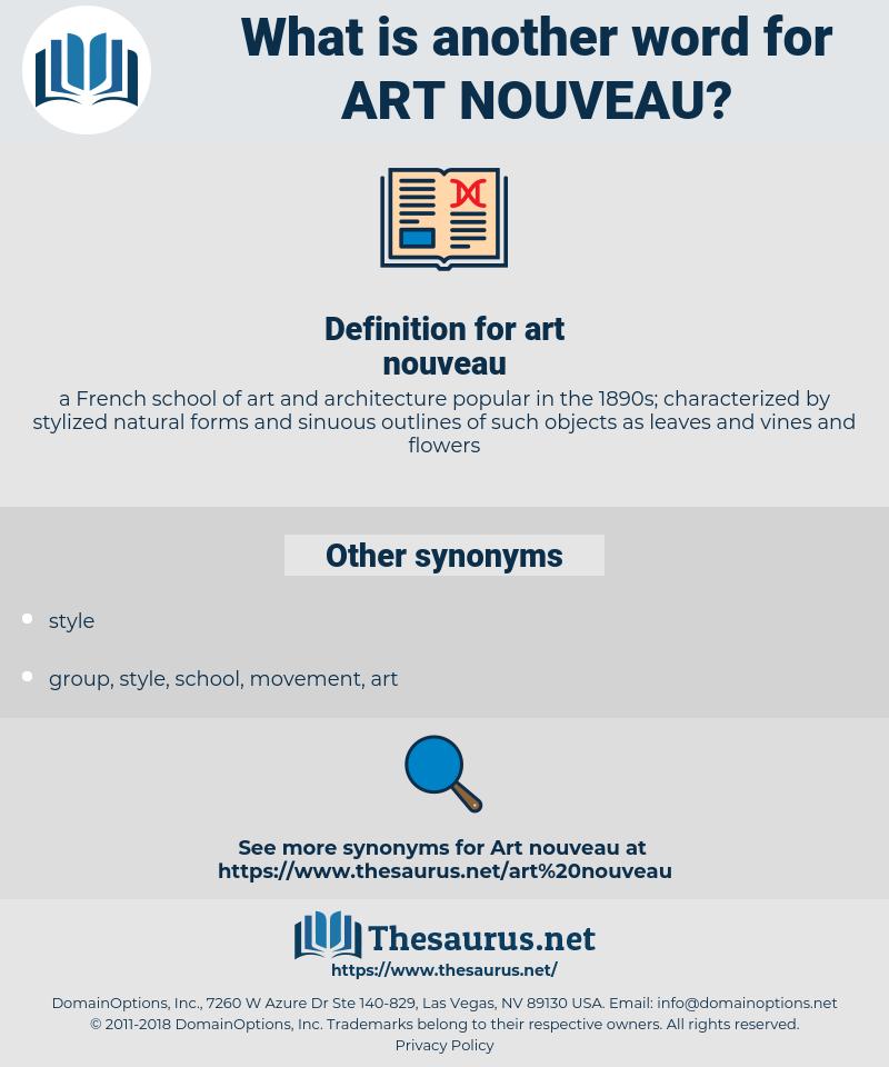 art nouveau, synonym art nouveau, another word for art nouveau, words like art nouveau, thesaurus art nouveau