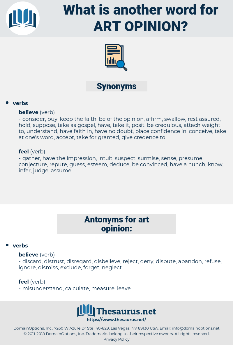 art opinion, synonym art opinion, another word for art opinion, words like art opinion, thesaurus art opinion