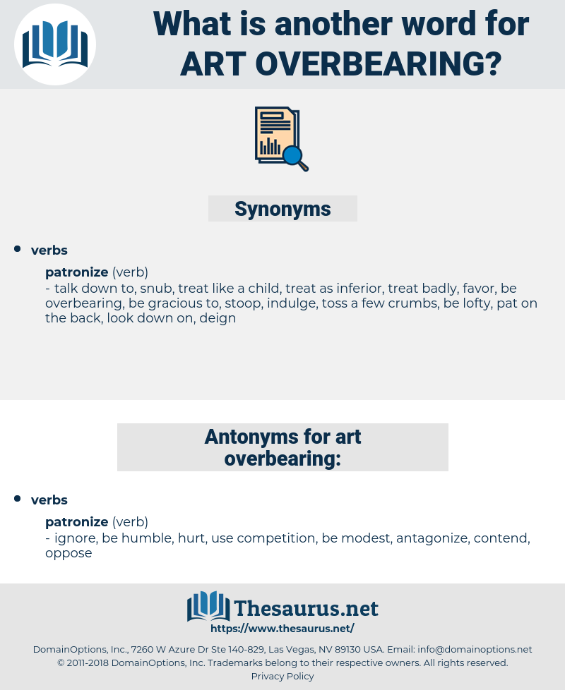 art overbearing, synonym art overbearing, another word for art overbearing, words like art overbearing, thesaurus art overbearing