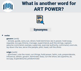 art power, synonym art power, another word for art power, words like art power, thesaurus art power