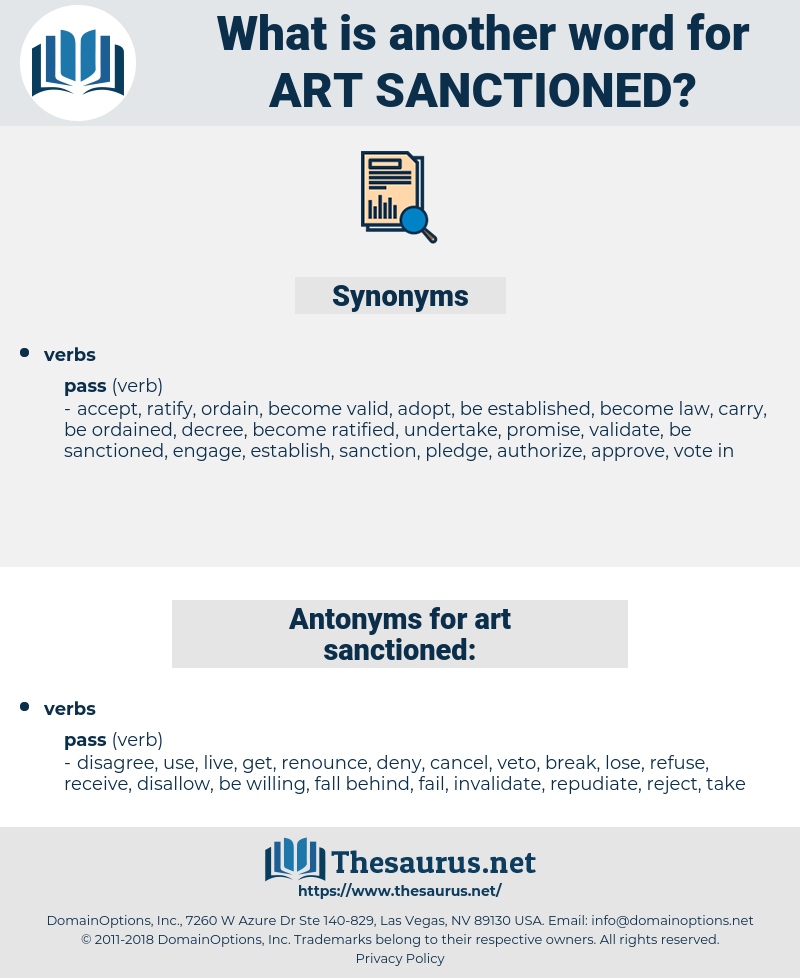 art sanctioned, synonym art sanctioned, another word for art sanctioned, words like art sanctioned, thesaurus art sanctioned