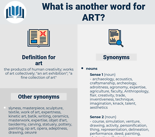 art, synonym art, another word for art, words like art, thesaurus art