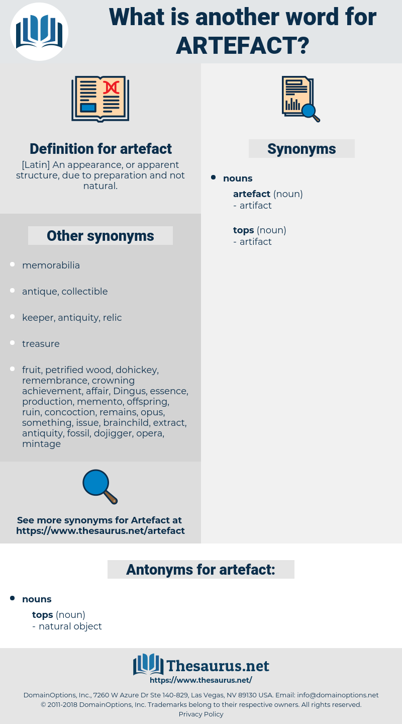 artefact, synonym artefact, another word for artefact, words like artefact, thesaurus artefact