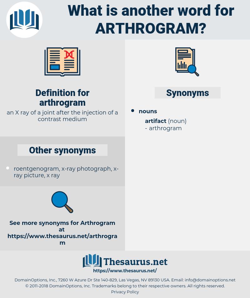 arthrogram, synonym arthrogram, another word for arthrogram, words like arthrogram, thesaurus arthrogram
