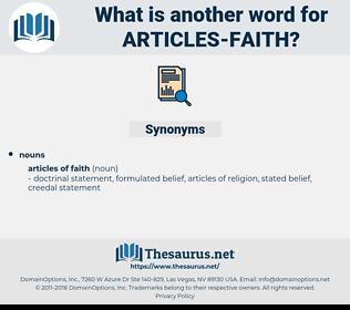 articles faith, synonym articles faith, another word for articles faith, words like articles faith, thesaurus articles faith