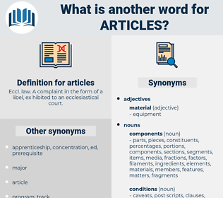 articles, synonym articles, another word for articles, words like articles, thesaurus articles