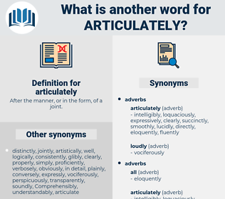 articulately, synonym articulately, another word for articulately, words like articulately, thesaurus articulately